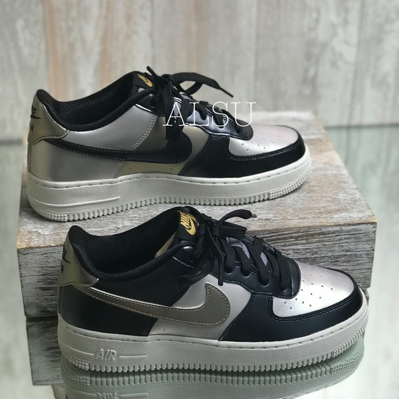 Nike Air Force 1 LV8 GS Mtlc Cool Grey kW AUTHENT NWT